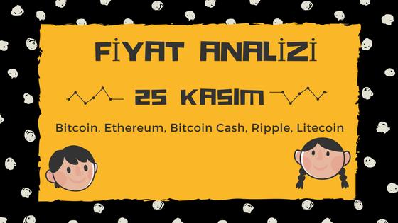 Fiyat Analizi: Bitcoin, Ethereum, Bitcoin Cash, Ripple, Litecoin, Kasım 25